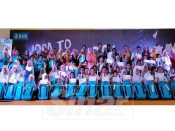 Seramai 80 murid dari 16 sekolah dirai dalam 'Jom To School With BSN'.