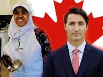 Sabariah Hussein dan Justin Trudeau.