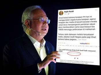 Perkongsian Najib di Facebooknya hari ini