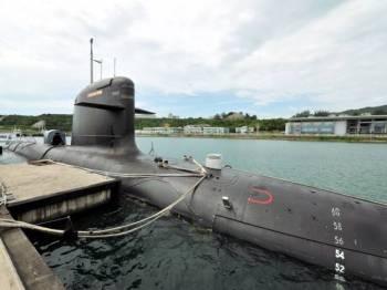 Kapal selam KD Tunku Abdul Rahman merupakan salah satu aset milik Angkatan Tentera Malaysia (ATM). - Foto Bernama
