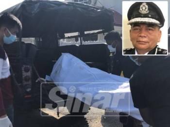 Mayat wanita warga Singapura itu ditemui reput dan berulat tanpa pakaian di laman rumahnya di Lorong Islah Lama, Jalan Tok Guru, di sini semalam.
