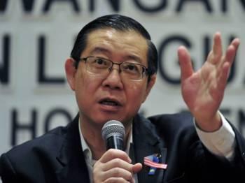 Lim Guan Eng. - Foto Bernama
