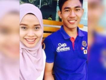 Pasangan ini merancang untuk berkahwin pada akhir bulan ini. Foto Facebook Nurul Najihah.