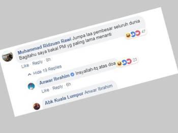 Paparan Facebook Anwar.