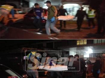 Mayat mangsa dihantar ke Hospital Seberang Jaya untuk bedah siasat.