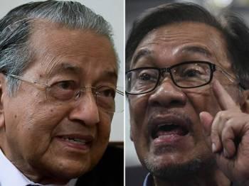 Tun Dr Mahathir Mohamad dan Datuk Seri Anwar Ibrahim