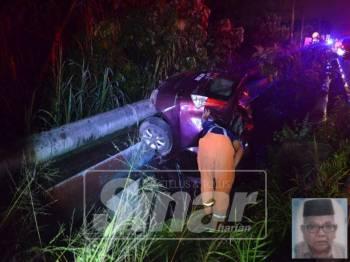 Kemalangan berlaku di Kilometer 74 Jalan Kuala Lumpur-Ipoh mengakibatkan Abd Samat Idris, 71, meninggal dunia di tempat kejadian