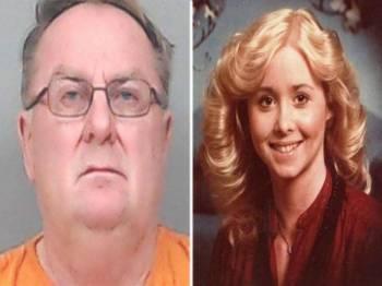 Jerry Lynn Burns (kiri) ditahan kerana membunuh Michelle Martinko pada 1979.