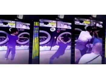 Polis akan meneliti rakaman kamera litar tertutup (CCTV) yang memaparkan seorang kanak-kanak terperangkap dalam mesin basuh di sebuah kedai dobi, sebagaimana tular di media sosial sejak dua hari lalu.