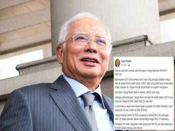 Najib dalam perkongsian terbaharu di Facebooknya.