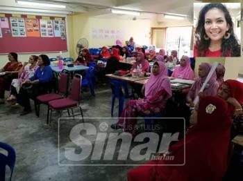 Sebahagian peserta yang hadir pada program berkenaan yang diadakan di Dewan Apartmen Idaman Damansara Damai.