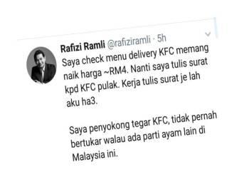 Paparan Twitter Rafizi