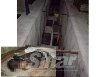 Mayat lelaki warga Nepal ditemui mati selepas terjatuh dari tingkat empat sebuah pangsapuri di Tingkat Mayang Pasir, pagi tadi.