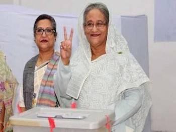 Sheikh Hasina kekal untuk penggal ketiga berturut-turut.