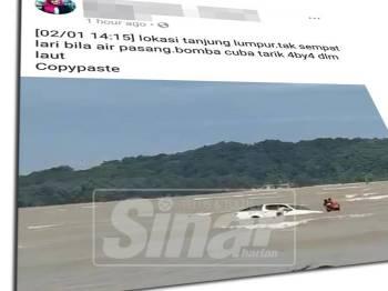 Video kenderaan pacuan empat roda (4x4) yang melekat di Pantai Tanjung Lumpur baru-baru ini, menarik perhatian netizen.