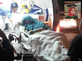 Najiha ditemui dalam lemah di dalam keretanya di Bandar Setiu malam tadi.