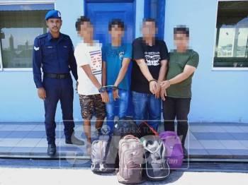 Empat warga asing yang ditahan PPM.