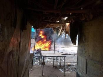 Keadaan ketika protes di Atbara, minggu lalu. - Foto Reuters