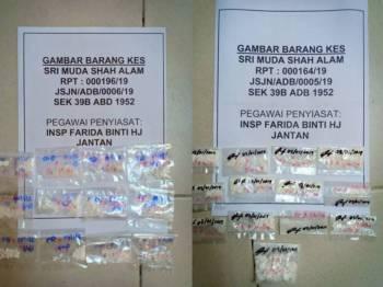 Antara paket dadah yang dirampas.