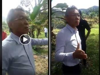 Video kekecohan melibatkan Wong Tack  dengan beberapa individu di kawasan sebuah kebun di Manchis, Bentong.