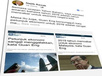 Perkongsian Najib di laman sosial Facebook miliknya, hari ini.