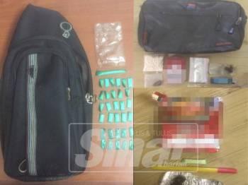 Antara beberapa jenis dadah yang dirampas ketika operasi di sarang dadah di Kuala Muda awal pagi semalam.