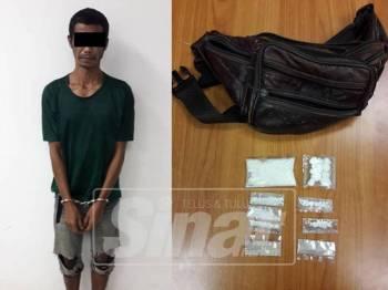 Penganggur ditahan bersama 28.74 gram dadah disyaki heroin.