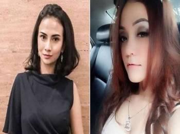 Vanessa (kiri) dan Avriellia ditahan di hotel Surabaya pada Sabtu lalu. - Foto: Instagram/VanessaAngelOfficial, Twitter/AvrielliaS