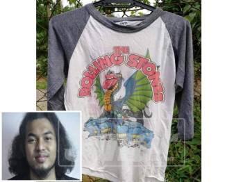 Baju vintage ini dilelong pada harga RM600 bagi mengisi tabung tersebut. (Gambar kecil: Wan Shafiq Wan Wan Abdul Rahman)