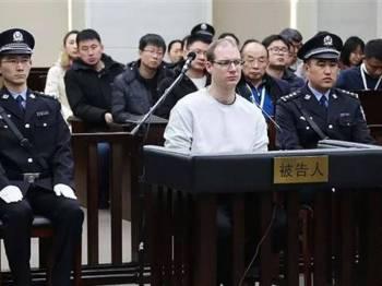 Schellenberg dijatuhi hukuman mati oleh mahkamah China kelmarin. - FOTO AFP