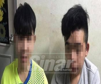 Dua remaja lelaki ditahan.