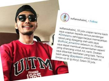 Sufian Suhaimi. Foto: Instagram Sufian Suhaimi