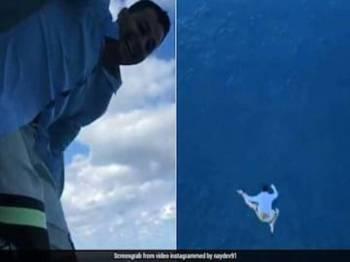 Nikolay bernasib baik kerana masih hidup selepas terjun dari tingkat 11 kapal persiaran Royal Caribbean di Bahamas.