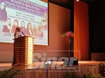 Siti Nurhaliza ketika berkongsi kisah kejayaan di majlis berkenaan.