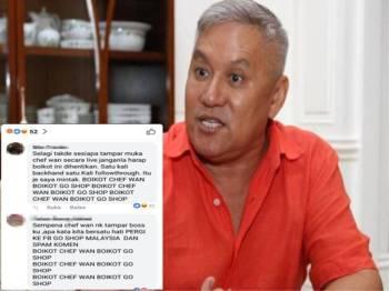 Antara komen netizen di ruangan komen Facebook Go Shop Malaysia.