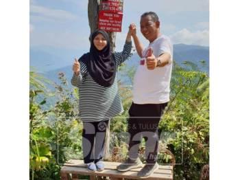 Aminuddin dan isteri tidak menyangka boleh sampai ke puncak