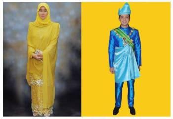 Tunku Azizah Aminah Maimunah Iskandariah dan Tengku Panglima Besar, Tengku Hassanal Ibrahim Alam Shah