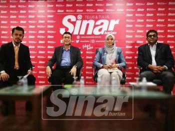 Wacana Sinar Harian berlangsung 'Peranan NGO dalam konteks Malaysia Baharu' di Kompleks Kumpulan Media Karangkraf, di sini, hari ini.