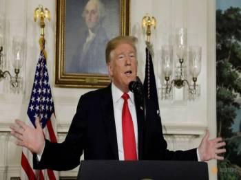 Trump enggan tamatkan penutupan separa kerajaan.- Foto Reuters