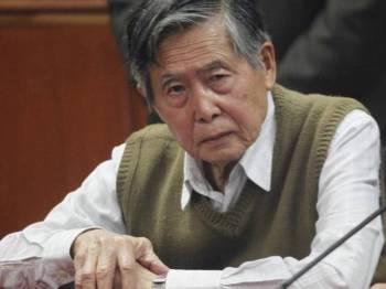 Fujimori, 80, berada dalam keadaan sihat untuk dihantar kembali ke penjara.