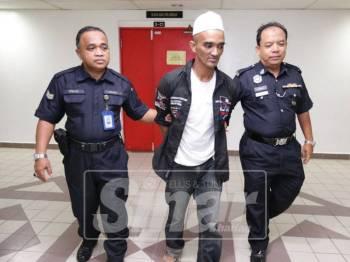 Bahana dadah, Mohd Fadzil dipenjara enam tahun dan tiga sebatan.