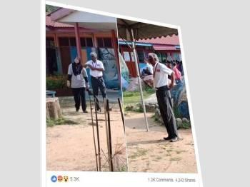 Paparan gambar yang dimuatnaik Ketua Pergerakan Pemuda Umno, Datuk Dr. Asyraf Wajdi Dusuki di Facebooknya hari ini.