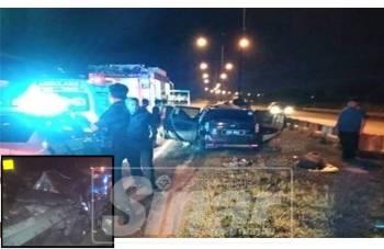 Kemalangan berlaku di Jalan Kuantan- Pekan berhampiran Pusat Latihan Pertanian Inderapura di sini, awal pagi tadi.