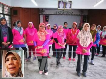 Wok Alias bersama rakan rakannya yang aktif dalam program senamrobik.