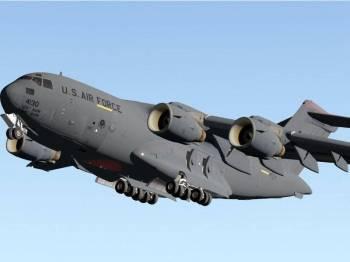 Pesawat pengangkut C17A Globemaster milik tentera udara AS didakwa mendarat di lapangan terbang tentera di pinggir Bogota pada Rabu lalu.