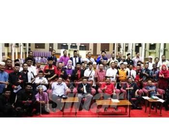 Mohd Firdaus (tengah) bersama sebahagian wakil NGO Kedah yang hadir taklimat penubuhan Sekretariat NGO Kedah.