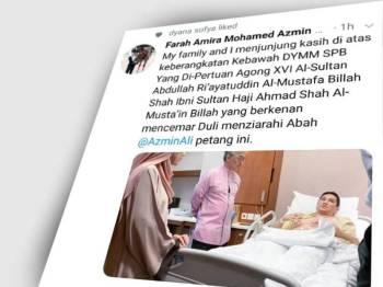 Paparan Twitter Farah Amira.