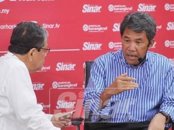 Program Bicara Minda Sinar Harian bersama Timbalan Presiden Umno, Datuk Seri Mohamad Hasan, di Dewan Karangkraf, di sini, hari ini. - Foto Sinar Harian/Rosli Talib