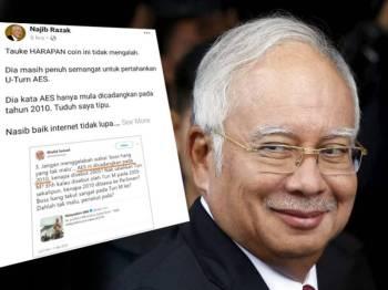 Paparan Facebook Najib.