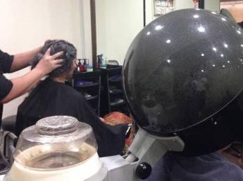 Rambut perlu diurut selepas proses steam